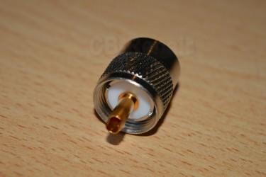 Разъем высокочастотный (штекер) с фторопластовым изолятором PL-259/6